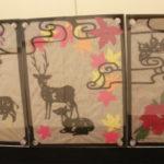 18cm×13.5cm×3枚 紙、和紙、水彩