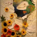 F10 アクリル、紙、造花